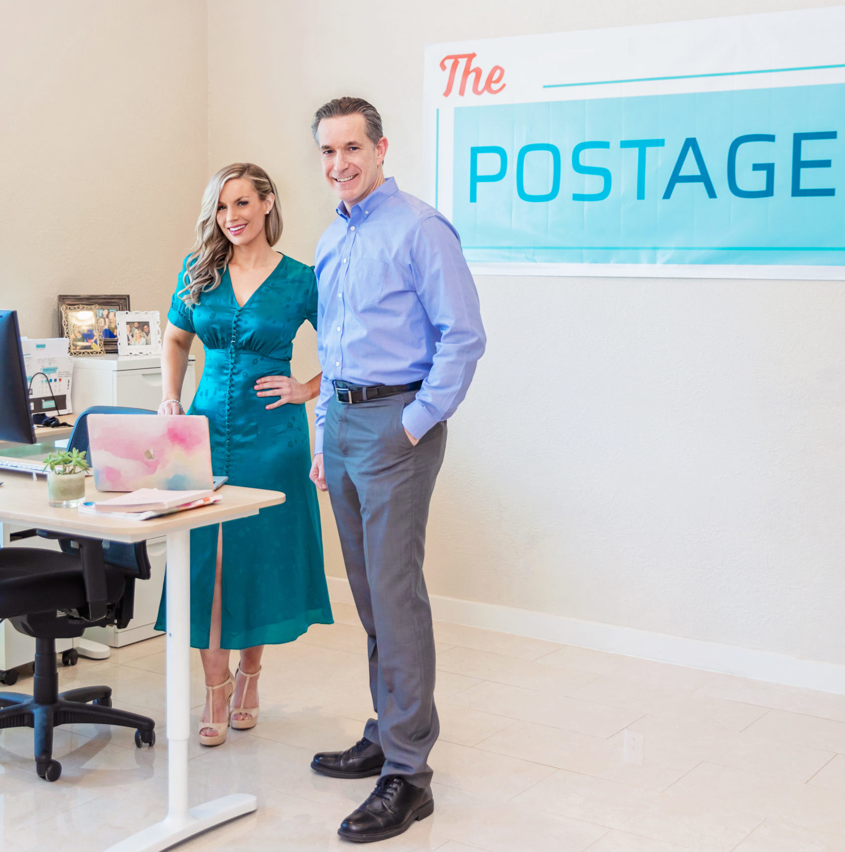 The Postage's CEO, Emily Cisek, and CTO, Ken Myers