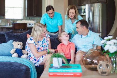 Family of Five on Couch Small