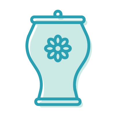 The Postage Icons Blue Urn